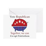 Patriotic Pig Greeting Cards (Pk of 20)