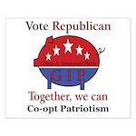 Patriotic Pig Small Poster