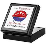 Patriotic Pig Keepsake Box