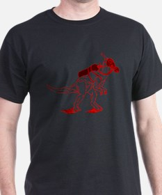Dino Mask - red T-Shirt