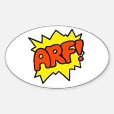 'Arf!' Oval Decal