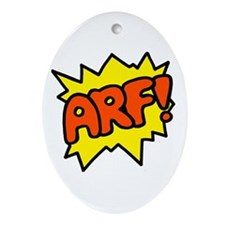 'Arf!' Oval Ornament