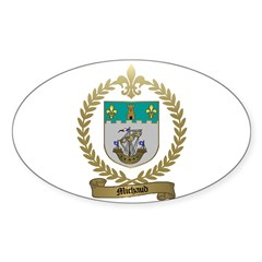 MICHAUD Family Crest Oval Decal