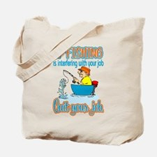 Interfering Fish Tote Bag