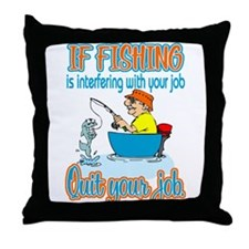 Interfering Fish Throw Pillow