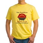 Exploding Pig Yellow T-Shirt