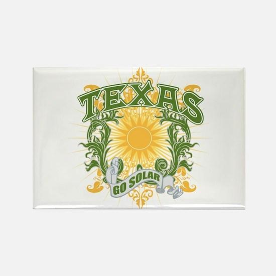 Go Solar Texas Rectangle Magnet