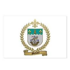 MICHAUX Family Crest Postcards (Package of 8)