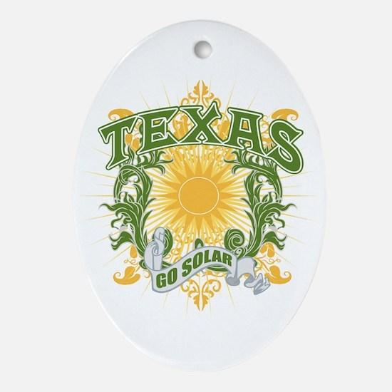 Go Solar Texas Oval Ornament