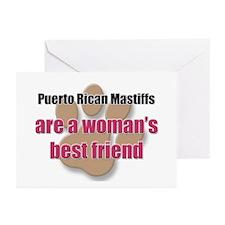 Puerto Rican Mastiffs woman's best friend Greeting