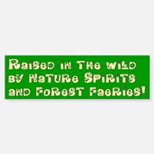 Raised in the Wild Bumper Car Car Sticker