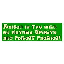 Raised in the Wild Bumper Car Sticker