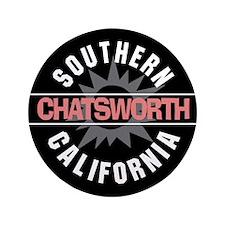 """Chatsworth California 3.5"""" Button"""
