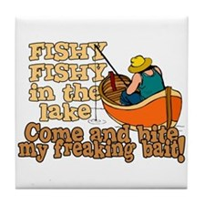 Fishy Fish in the lake Tile Coaster