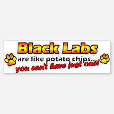 Potato Chips Black Lab Bumper Bumper Bumper Sticker