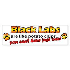 Potato Chips Black Lab Bumper Bumper Sticker