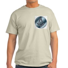 Steel Circle Masonic Ash Grey T-Shirt