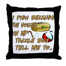 Tackle Box Voices Throw Pillow