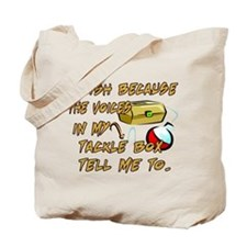 Tackle Box Voices Tote Bag