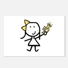 Girl & Trumpet Postcards (Package of 8)