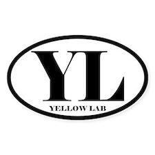 YL Abbreviation Yellow Lab Decal