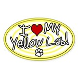 Yellow lab Bumper Stickers