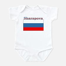 Sharapova Russia Flag Infant Bodysuit