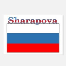 Sharapova Russia Flag Postcards (Package of 8)