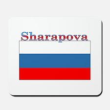 Sharapova Russia Flag Mousepad