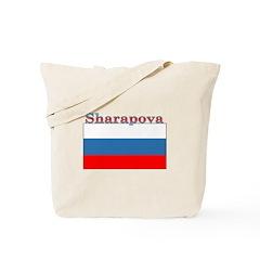 Sharapova Russia Flag Tote Bag