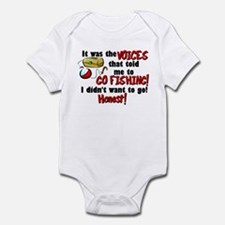 Voices in my Head Fishing Infant Bodysuit