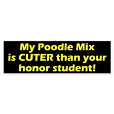 Cuter Poodle Mix Bumper Bumper Sticker