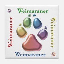 Weim Name2 Tile Coaster