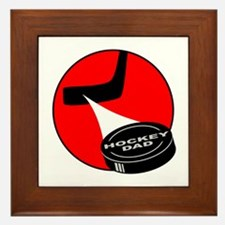 HOCKEY DAD T-SHIRTS AND GIFTS Framed Tile