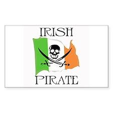 Irish Pirate Flag Rectangle Decal