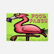 Funny Swim party Rectangle Magnet