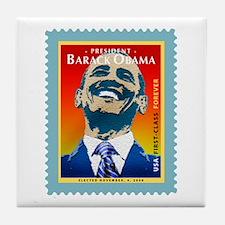 President Obama Stamp - Tile Coaster