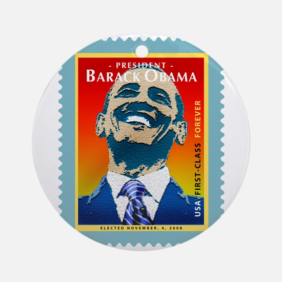 President Obama Stamp - Ornament (Round)