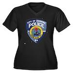 Henning Police Women's Plus Size V-Neck Dark T-Shi