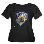 Henning Police Women's Plus Size Scoop Neck Dark T
