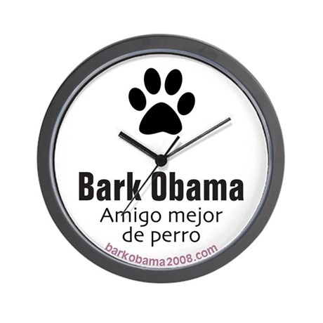 Spanish Obama (dog's best friend) Wall Clock