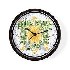 Go Solar Rhode Island Wall Clock