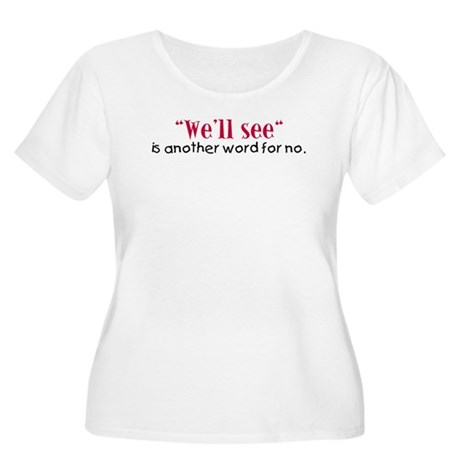 A Kid's Dictionary Women's Plus Size Scoop Neck T-