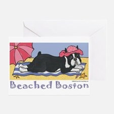 Beached Boston Greeting Card