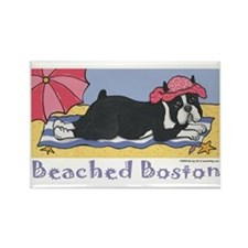 Beached Boston Rectangle Magnet