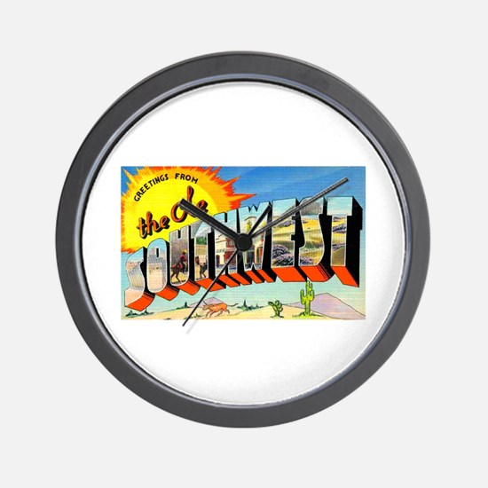 Old Southwest Greetings Wall Clock