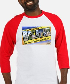 Decatur Illinois Greetings Baseball Jersey