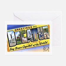 Decatur Illinois Greetings Greeting Card
