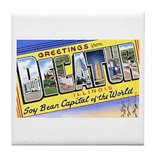 Decatur Illinois Greetings Tile Coaster