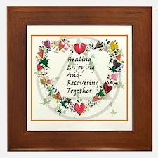 Healing HEART Framed Tile